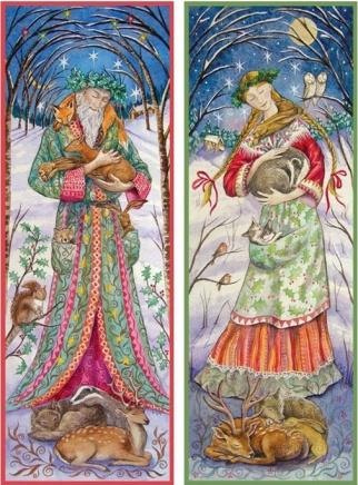 yule Goddess and Greenman