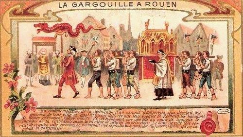 Cérémonie de la Gargouille à Rouen